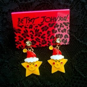 Betsey Johnson Star Earrings